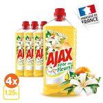 AJAX Produit Ménager Entretien Nettoyant sol Multi-surfaces Boost Bicarbonate/Citron 1.25 L / 1250 ML