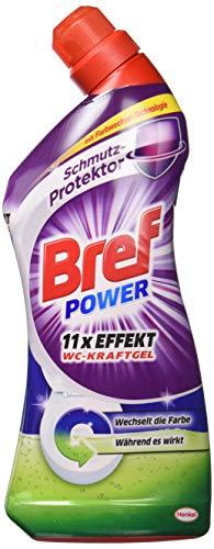 Bref Power Force Gel WC la saleté de protection, Lot de 8(8x 1L)