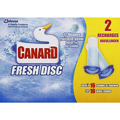 Canard WC - Fresh - Recharge Fresh Disc, fraîcheur marine - Les 12 disques - (pour la quantité plus que 1 nous vous remboursons le port supplémentaire)