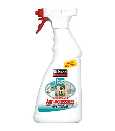 Rubson Vaporisateur Anti-Moisissures, Spray nettoyant puissant qui élimine la moisissure en 10 minutes. Vaporisateur pour intérieur & extérieur, 500 ml