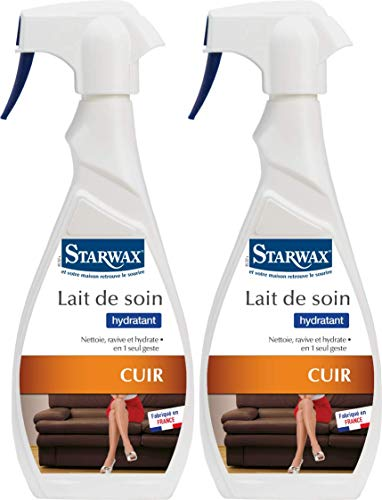 STARWAX Lait de Soin Cuir 500mL - Lot de 2