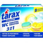 Tarax - Tablettes WC Triple Action - 8 Doses / 200 g - Lot de 4