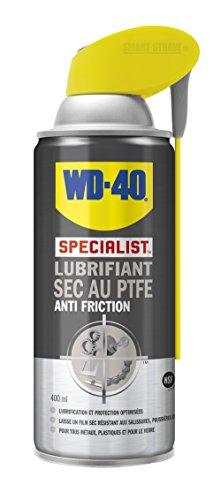 WD-40 Specialist Lubrifiant sec au PTFE Aérosol Double Position 400Ml