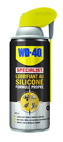 WD-40 Specialist • Lubrifiant Au Silicone • Spray Double Position • Formule Propre • Isolation contre l'humidité • Comptatible tous métaux, plastiques, caoutchoucs et bois • 400 ML