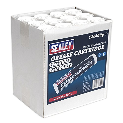 SEALEY sgc12 Cartouche de graisse, 400 g, Lot de 12