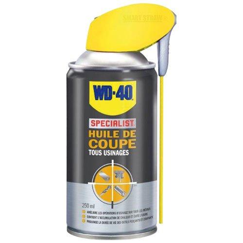 WD-40 Specialist • Huile De Coupe • Spray Double Position • Tous Usinages • Prévient l'Usure des outils de coupe / perçage • Résiste Aux Pressions Extrêmes • Réduit l'accumulation de chaleur • 250 ML