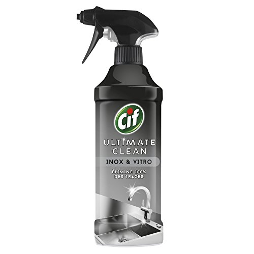 CIF Pistolet Spray Nettoyant Ultimate Clean Inox/Vitro 435 ml
