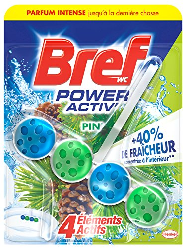 Bref Bloc Nettoyant WC Power Activ Pin 50 g