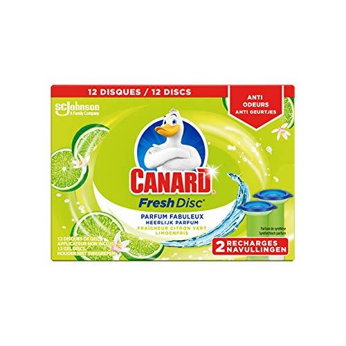 Canard WC Fresh Disc Nettoyant Fraîcheur Citron Vert 12 Disques 2 x 36 ml